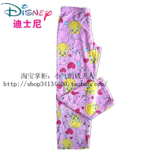 Пижамные штаны Disney Tweety Bird Девушки Фланель Хлопок Персонажи мультфильмов Зима