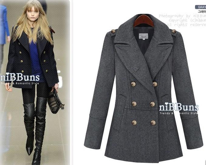 женское пальто Средней длины (65 см <длины одежды ≤ 80 см) Длинный рукав