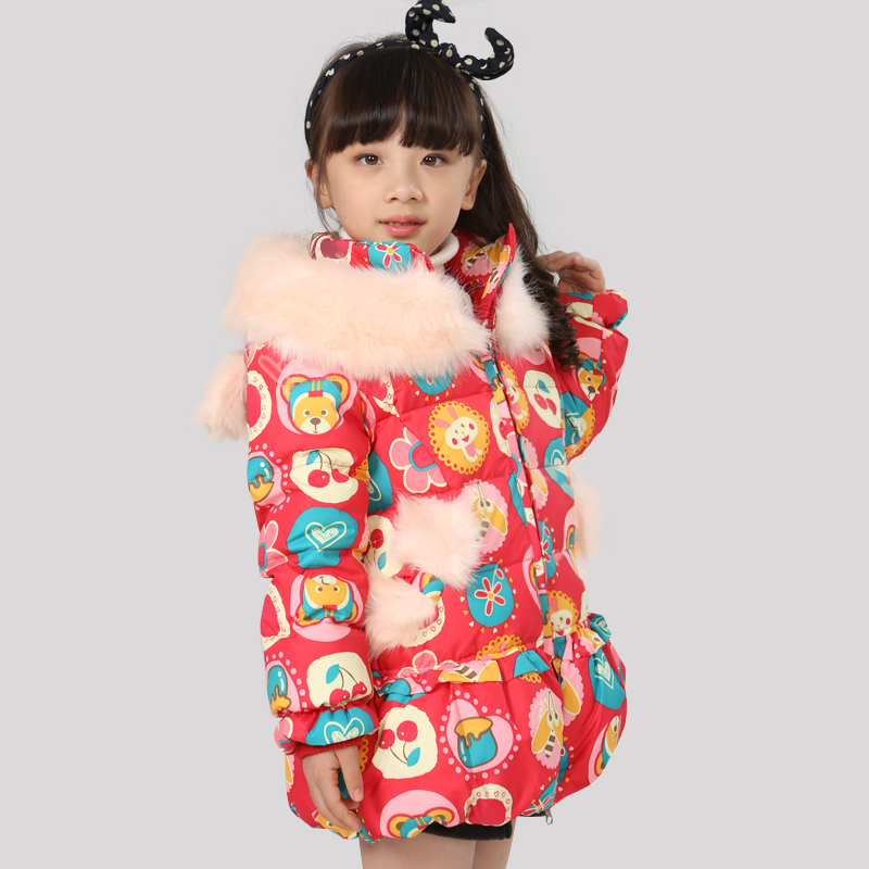 thick GIRL down jacket bowknot long coat  kids colthing Taobao Agents
