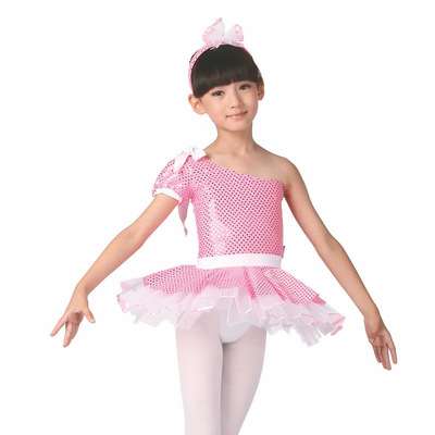 Falling redrain dance practice skirt Siamese Children's ballet performances crony veil headdress Children's Day promotion