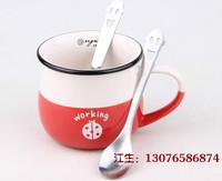 创意马克杯勺子可爱 搅拌开心勺咖啡勺 不锈钢笑脸勺冰激凌勺批发
