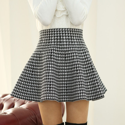 2014 new winter female pleated skirts tutu skirt umbrella bag waist skirt bottoming autumn and winter skirt