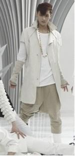 exo狼与美女mv 飞鼠裤子哈伦裤低裆跨裤男款锥形裤