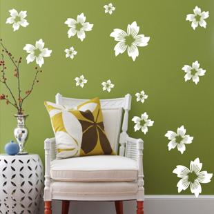 【美丽紫荆】特价装饰自粘DIY创意卧室客厅装修电视墙墙贴纸