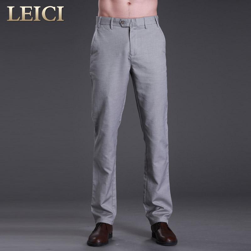 雷驰奢侈品男装 进口埃及长绒棉男士商务休闲长裤 春季新品1001