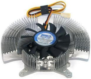 Multi-pitch graphics overclocking three silver GALAXY Colorful graphics radiator fan buy one get two