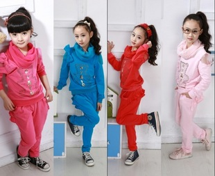 2012 big boy suit girls in the spring section of the new childrens sportswear suit elegant Korean version of the package
