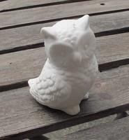 特价促销猫头鹰家居摆设品素坯素烧陶瓷工艺品儿童房 DIY涂鸦摆件