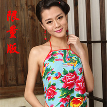 Big red XS cotton benmingnian national wind lady sexy pajamas adult male chinese-style chest covering warm costumes