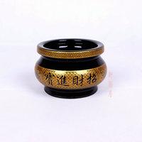 佛教用品/佛具陶瓷香炉 招财进宝炉 财神香炉4至8寸黑釉 产地直销