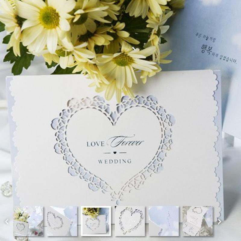 结婚季白蓝色结婚喜帖欧式韩式请柬个性请帖