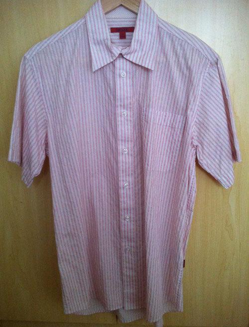 Рубашка мужская VICT0R CROSS Воротник с пуговицами Короткие рукава (длина рукава <35см)