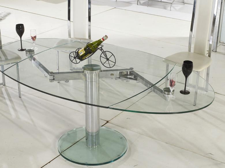 芝万华品家具五金餐厅钢化玻璃简约时尚不锈钢家具厂华士图片