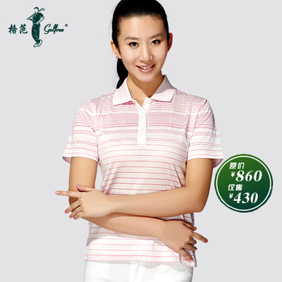 Golf female models breathable mercerized cotton short-sleeved T-shirt cool / cool features Sennheiser's T-shirt golfree