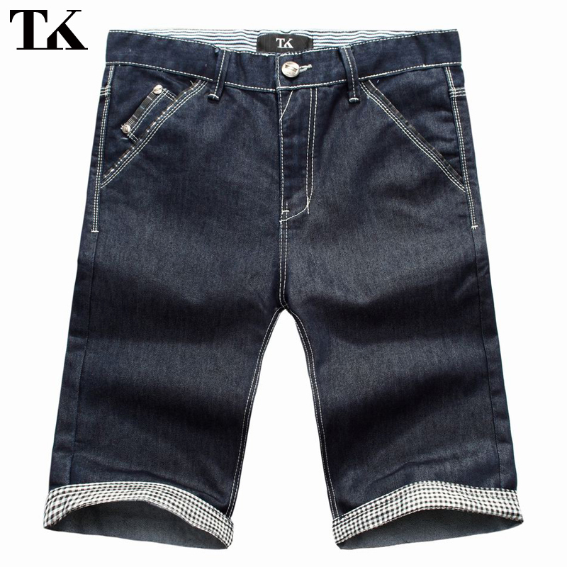 tk2012 clearance men's summer new summer clothing fifth straight denim shorts male pants korean