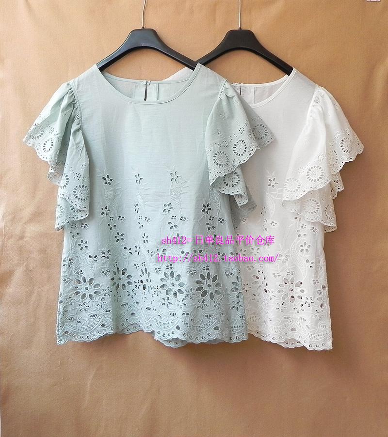женская рубашка OTHER Snidel Casual Короткий рукав Однотонный цвет Лето 2012 Закругленный вырез