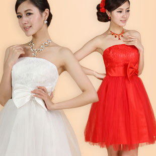 Philip belly band Maid of honor wedding toast clothing Delta short red dress  bride bridal wedding dress evening dress skirt f310