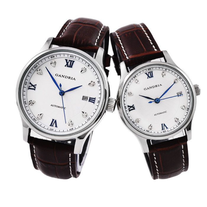 Authentic Hong Kong gandria couple watches automatic mechanical watch business men watch pair watch lovers watch