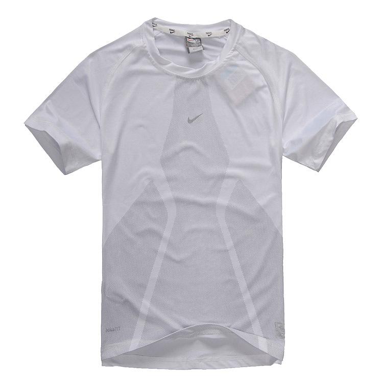 Спортивная футболка Nike n89659 2012nike Стандартный Воротник-стойка CVC Для спорта и отдыха Воздухопроницаемые, Ультралегкие, Быстросохнущие, Влагопоглощающие Логотип бренда