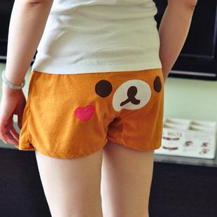 Пижамные штаны Главная брюки пижамы дома шорты шорты супер дышащие rilakkuma три выбранные Девушки Махровая ткань Персонажи мультфильмов Лето