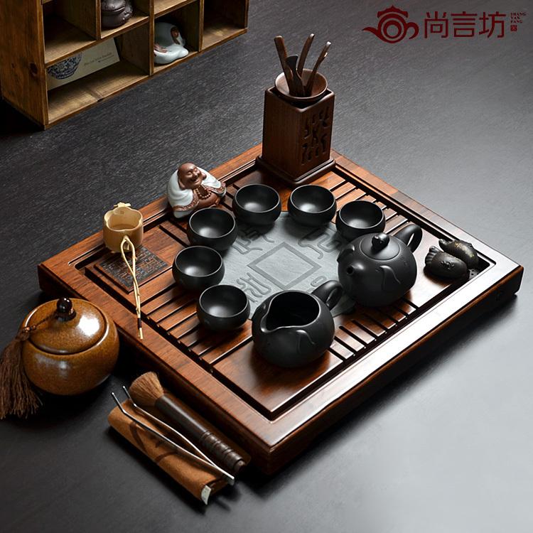 Набор для чайной церемонии Yet words Square SYF/zz003 Исинская глина На 6-х человек Цветная глазурь