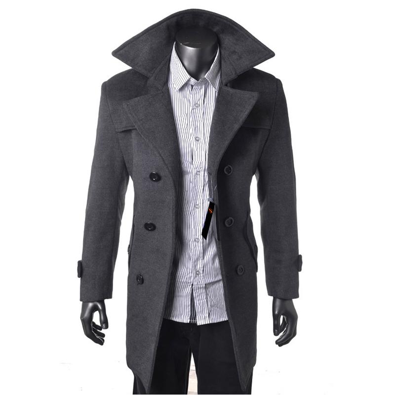 Пальто мужское Hojma Кашемир из овечьей шерсти для пальто Без воротника со стойкой