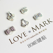 Kuermei apple iphone 4 s iphone 5 keys stick diamond intelligent home mail bag