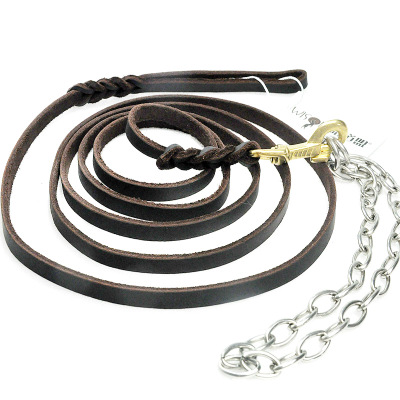 Free shipping new black German Shepherd shell game tournament rope rope chain leather leash dog collar suit pet supplies
