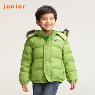 2012 new Giordano jacket boy's colorful innocence even  hood down jacket with detachable sleeves 03071519
