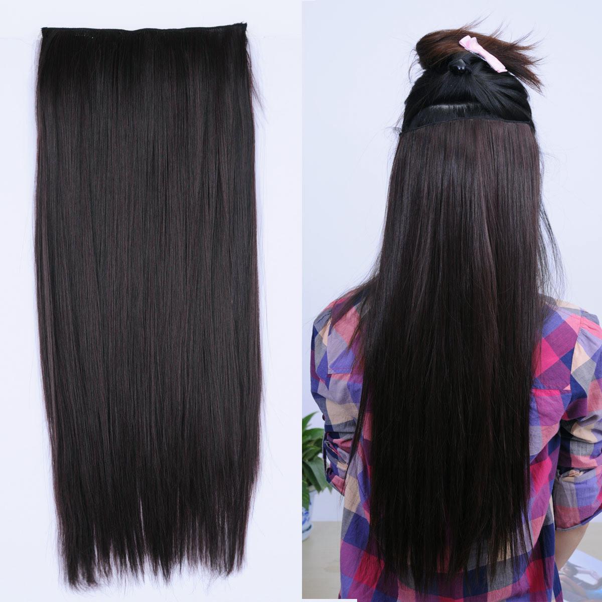 Cheap Black Hair Extensions Clip In Full Head 58