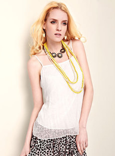 Dream Basha 2012, new simple fine pleated hem of women's Camisole 030212270
