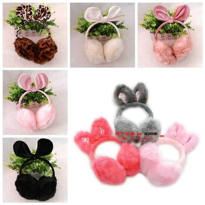 Free shipping Super Meng rabbit ear protection earmuffs earmuffs female child bunk warm winter warm ear ear bag ladies
