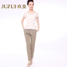 玖姿旗舰店JUZUI 正品 新品 女舒适长裤 西装裤休闲