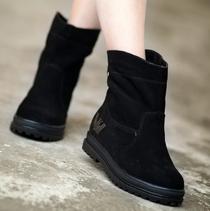秋冬韩版磨砂牛皮英伦皮带扣休闲骑士靴圆头个性真皮短靴马靴女鞋