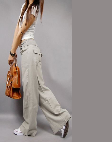 Женские брюки SZ 8107 2013 Длинные брюки Прямые Городской стиль Весна 2013 Разное Шнурки, пояс