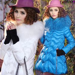 Luxury fur collar jacket cuff gloves Beach