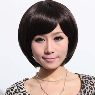 Gifts Japanese fashion doll charm oblique bangs short hair wig poly Air M18015
