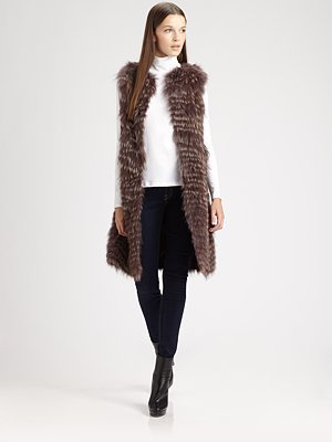 костюм Other brands  Theory Caris Coyote Fur Vest