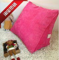 包邮批发特价三角靠 纯色靠垫 床头立体靠枕 抱枕 靠垫 沙发靠垫
