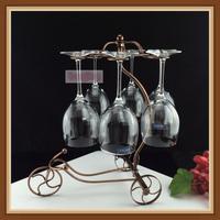 精美包邮 加高加粗古铜色单车红酒杯架 欧式杯架 不锈钢杯架酒架