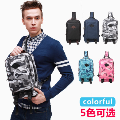New men's chest pack JR police aging trend of outdoor sports backpack shoulder bag female bag camouflage IPAD 3073
