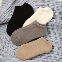 加厚加绒毛圈船袜短袜配运动鞋保暖毛巾超厚女士秋冬纯色纯棉袜子