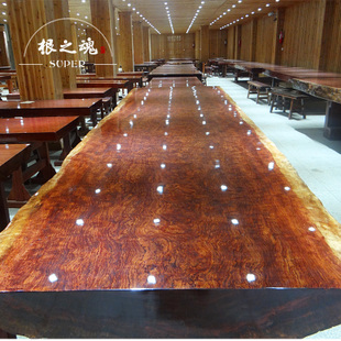 Root soul of Brazil Bubinga slabs need for Pakistan to spend face large solid wood table desk spot
