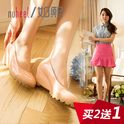 Hee as new women's shoes Spring 2014 Low shoes lady slope with high-heeled women's shoes shoes candy 3751