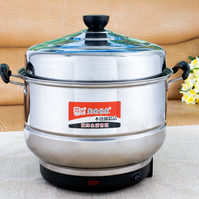 Two-story multi-purpose stainless steel steamer large capacity electric steamer pot cooking pot saving shipping