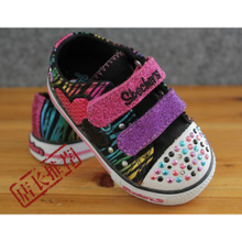Si kaijie SKE children flash single shoes Colorful sandals of the girls Children's canvas shoes Package rate