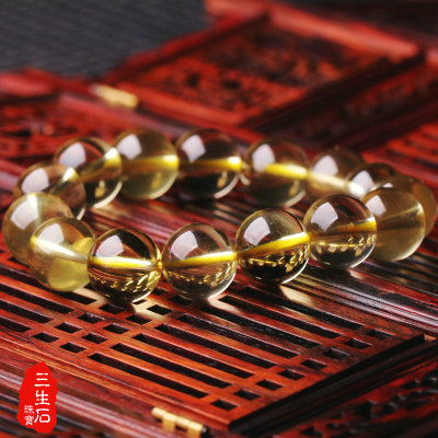 Free shipping genuine opening of natural citrine bracelet men jewelry lovers trick partial financial Cai Wang career