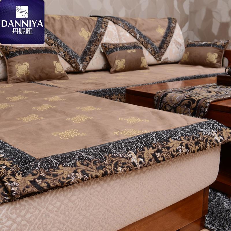 高档实木沙发垫现代中式沙发套定做红木沙发巾坐垫布艺防滑耐脏冬图片