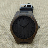 New Bamboo Wooden Men's PU Leather Watches Women's Wristwatc