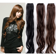 A clamp plate two non-trace thickening curly hair wig female 2 card can be very hot large wavy hair clip hair straight
